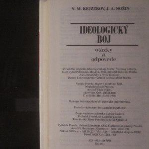 antikvární kniha Ideologický boj. Otýzky a odpovede, 1988