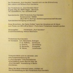 antikvární kniha Kurt Gerstein - der Spion Gottes aus Hagen, 2000