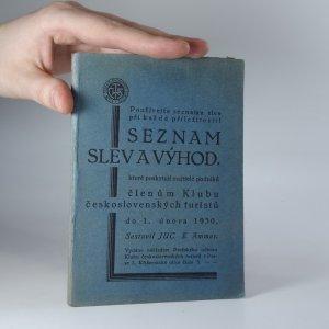 náhled knihy - Seznam slev a výhod, které poskytují majitelé podniků členům Klubu československých turistů do 1. února 1930