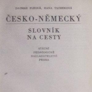 antikvární kniha Česko-německý a německo-český slovník na cesty, 1982