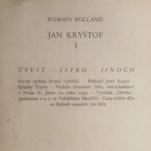 antikvární kniha Jan Kryštof (4 svazky), 1949
