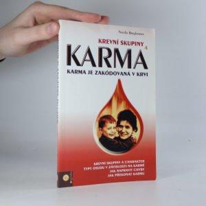 náhled knihy - Krevní skupiny a karma. Karma je zakódovaná v krvi