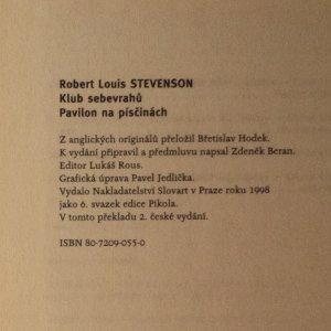 antikvární kniha Klub sebevrahů. Pavilon na písčinách., 1998