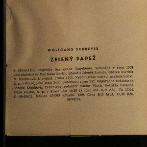 antikvární kniha Zelený papež, 1961