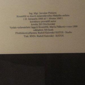 antikvární kniha Kroměříž ve dnech ústavodárného říšského sněmu, 1998