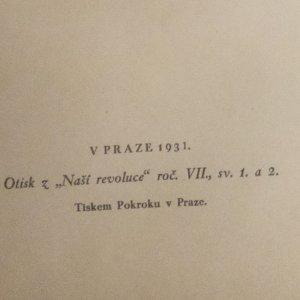 antikvární kniha Masaryk v OČSNR. a Rusi (Naše revoluce. Roč. VII., svazek I a II), 1931