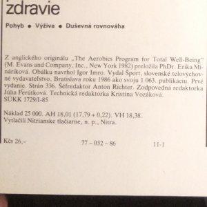 antikvární kniha Aerobický program pre aktívne zdravie : pohyb, výživa, duševná rovnováha, 1986