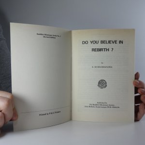 antikvární kniha Do You Believe in Rebirth?, neuveden
