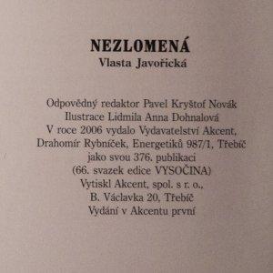 antikvární kniha Nezlomená, 2006