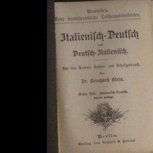 antikvární kniha Neufelds fremdsprachliche Wörterbücher. Italienisch-deutsch und Deutch-italienisch, neuveden