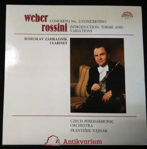 náhled knihy - Weber, Carl Maria von; Zharadník, Bohuslav: Concerto No. 2, Concertino (Clarinet)