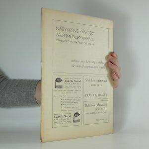 antikvární kniha Umělec. číslo 7. ročník I., 1945