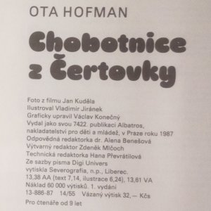 antikvární kniha Chobotnice z Čertovky, 1987