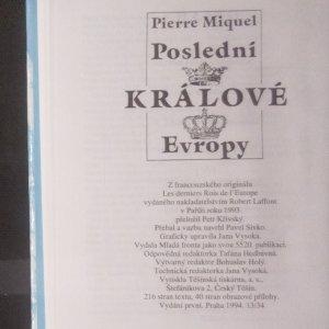 antikvární kniha Poslední králové Evropy, 1994