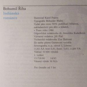 antikvární kniha Indiánská romance, 1986