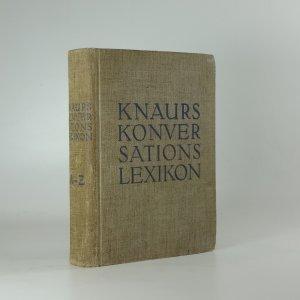 náhled knihy - Knaurs Konversations-Lexikon. A-Z