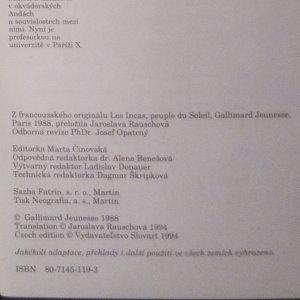 antikvární kniha Inkové, národ Slunce, 1994