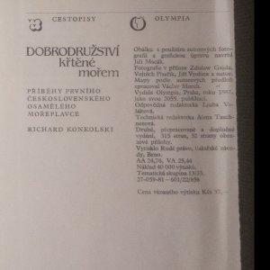 antikvární kniha Dobrodružství křtěné mořem : Příběhy prvního čs. osamělého mořeplavce, 1981
