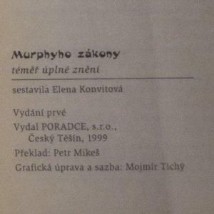 antikvární kniha Murphyho zákony : téměř úplné znění s komentářem, 1999
