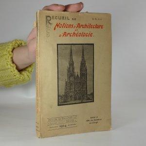 náhled knihy - Recueil de notions d'architecture et d'archéologie