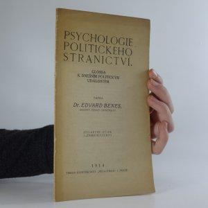 náhled knihy - Psychologie politického stranictví : Glossa k dnešním politickým událostem