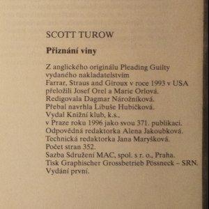 antikvární kniha Přiznání viny, 1996
