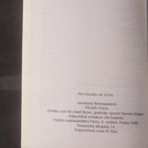 antikvární kniha Velká voda, 1992