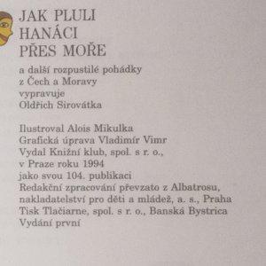 antikvární kniha Jak pluli Hanáci přes moře a další rozpustilé pohádky z Čech a Moravy, 1994