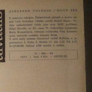 antikvární kniha Nový šéf, 1964