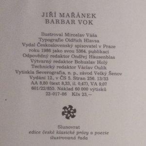 antikvární kniha Barbar Vok, 1986