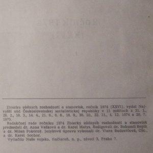 antikvární kniha Zbierka súdnych rozhodnutí a stanovísk. Ročník 1974 (XXVI), 1974