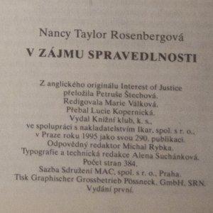 antikvární kniha V zájmu spravedlnosti, 1995