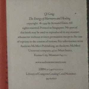 antikvární kniha Qi Gong, 1999