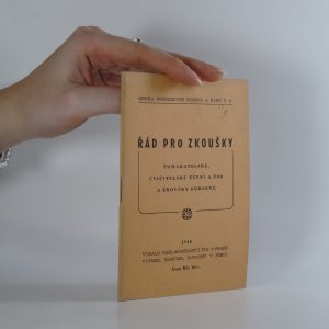 náhled knihy - Řád pro zkoušky pomahatelské, cvičitelské župní a ČOS u zkoušky odborné (sokol)