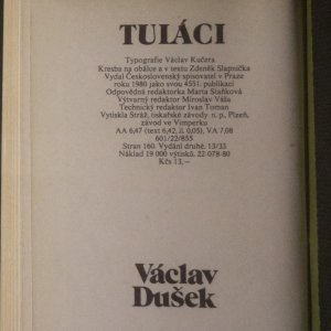 antikvární kniha Tuláci, 1980