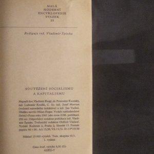 antikvární kniha Soutěžení socialismu a kapitalismu, 1961