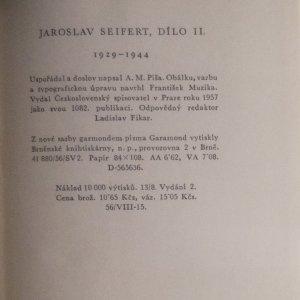 antikvární kniha Dílo II. 1929-1944, 1957