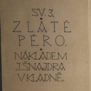 antikvární kniha Zlaté péro, neuveden