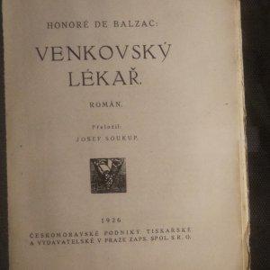 antikvární kniha Venkovský lékař, 1926