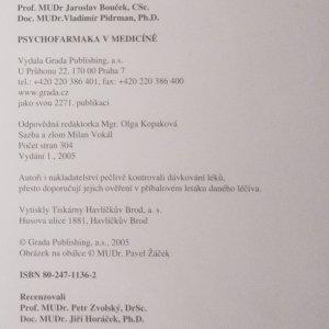 antikvární kniha Psychofarmaka v medicíně, 2005