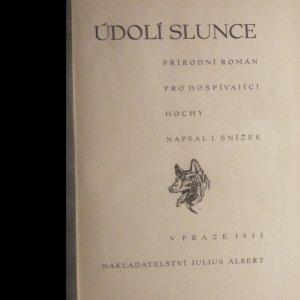antikvární kniha Údolí slunce, 1933