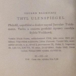 antikvární kniha Thyl Ulenspiegel, 1962