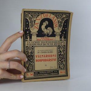 náhled knihy - Všenárodní hospodářství