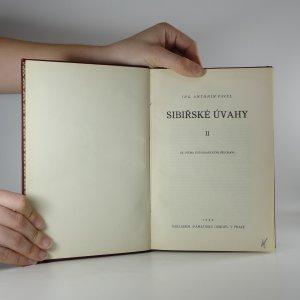 antikvární kniha Sibiřské úvahy II, 1925