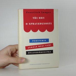 náhled knihy - Tři hry o spravedlnosti