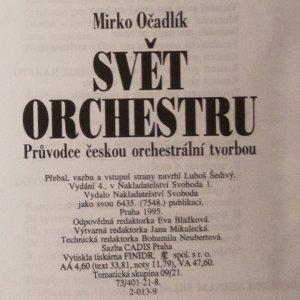antikvární kniha Svět orchestru: průvodce českou orchestrální tvorbou, 1995, 1961