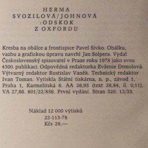 antikvární kniha Odskok z Oxfordu, 1978