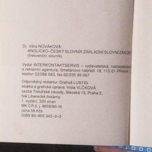 antikvární kniha Anglicko-český slovník základní slovní zásoby , 1992