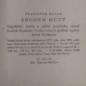 antikvární kniha Sbohem múzy, 1963