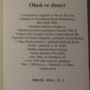 antikvární kniha Oheň ve Slunci, 1997